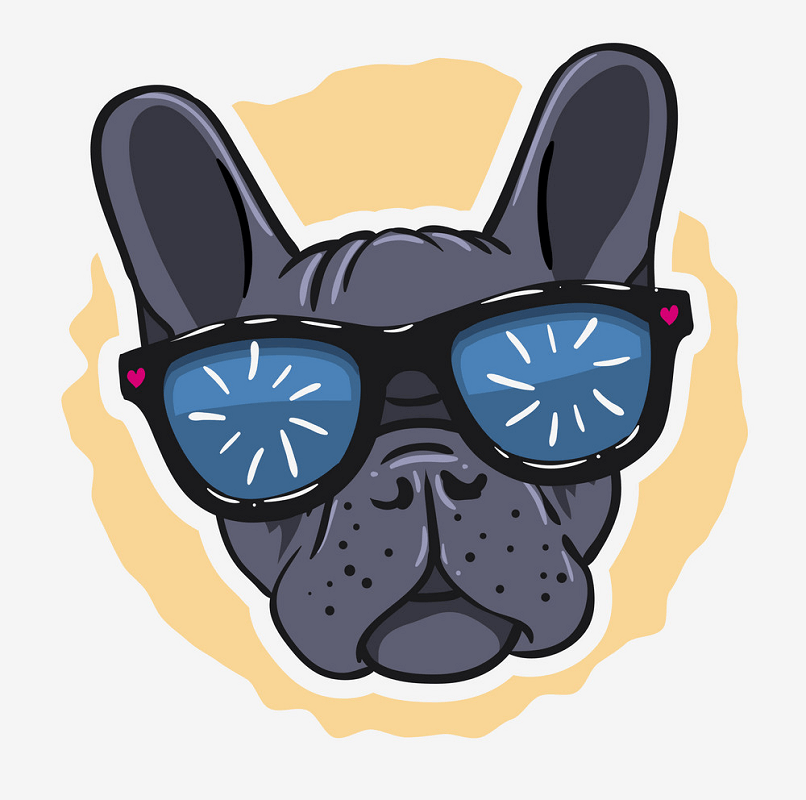 French Bulldog Face clipart png image