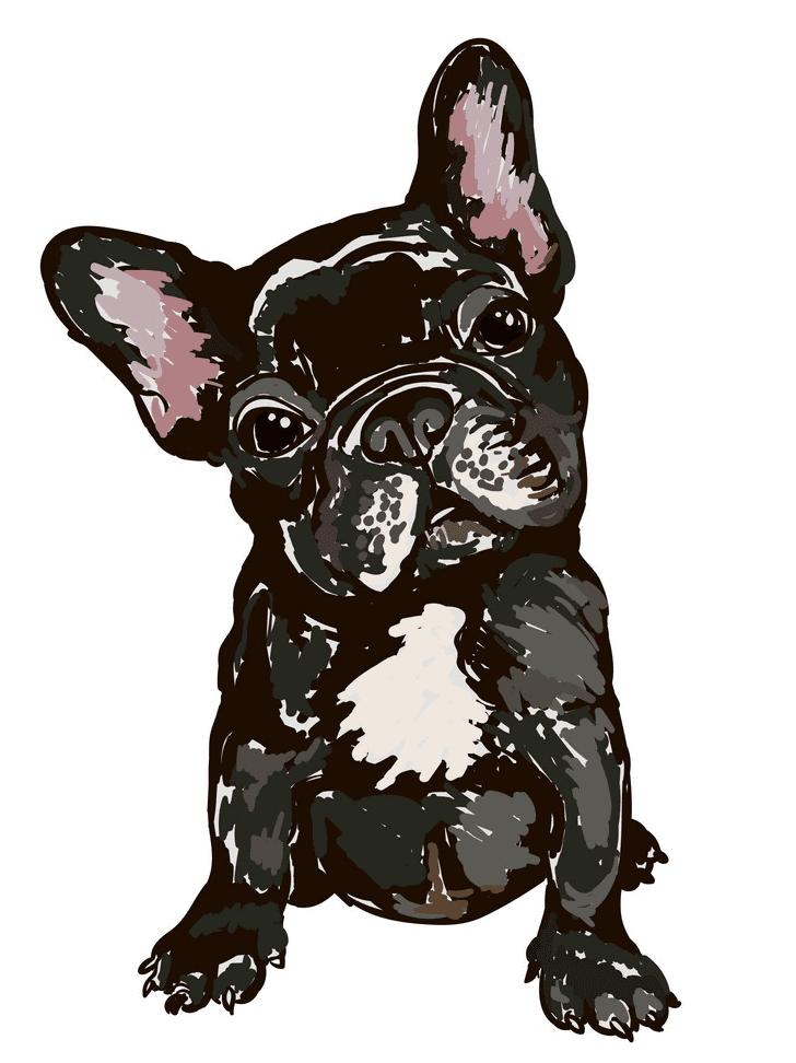 French Bulldog clipart image
