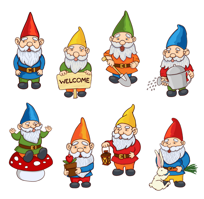 Garden Gnome clipart for free