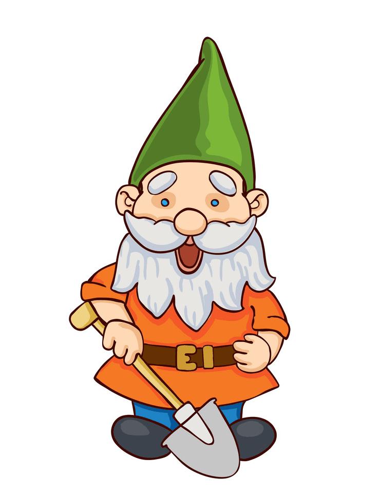 Garden Gnome clipart free image