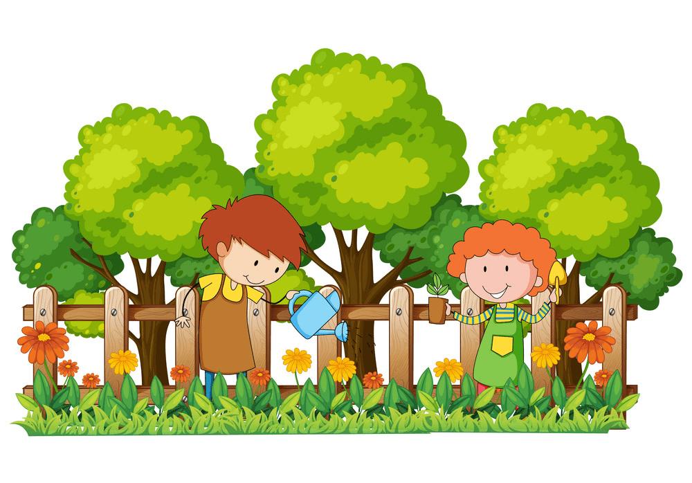 Garden clipart free