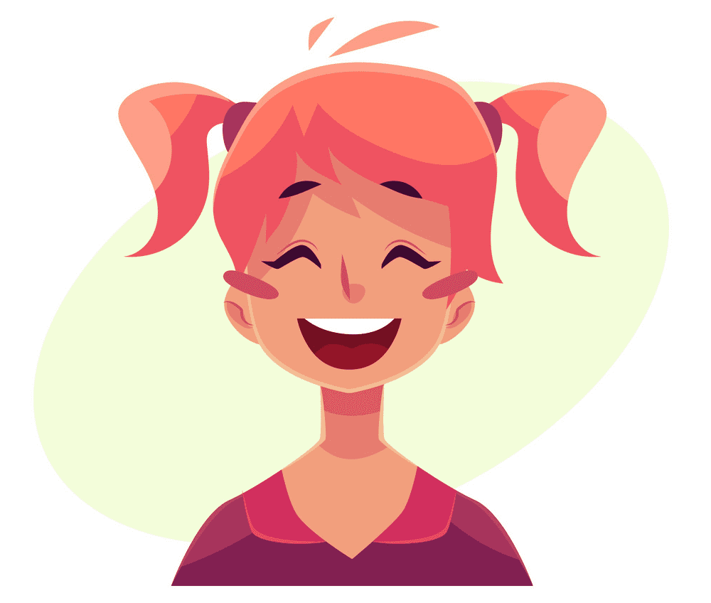 Girl Laughing clipart 4
