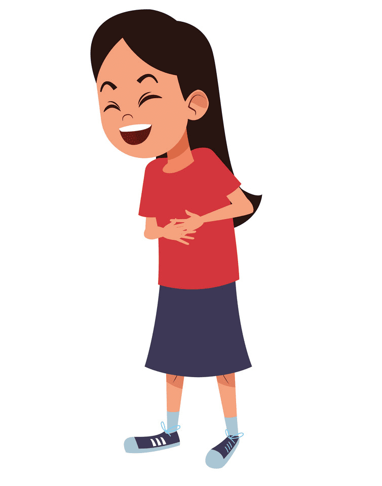 Girl Laughing clipart 6