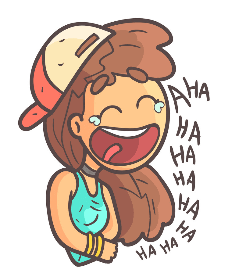 Girl Laughing clipart 7