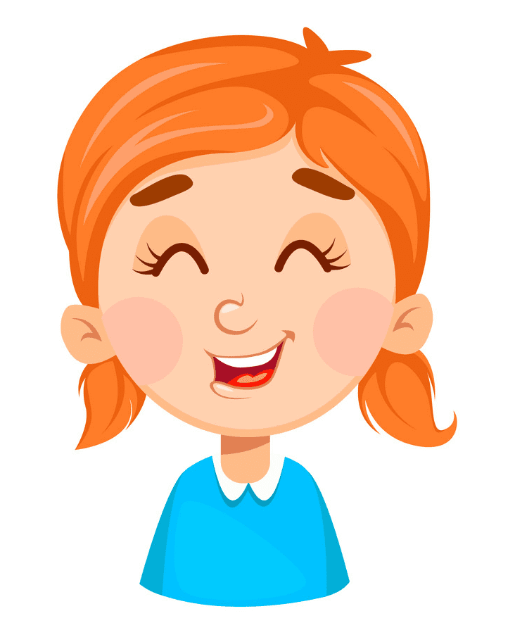 Girl Laughing clipart for free
