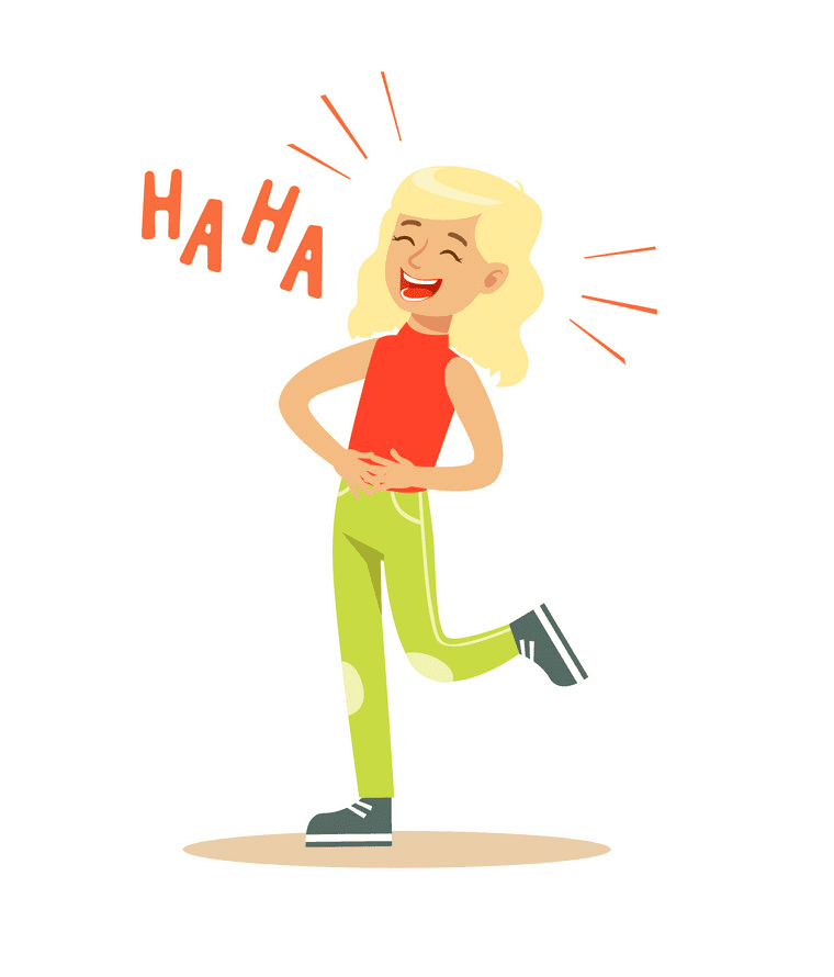 Girl Laughing clipart free images