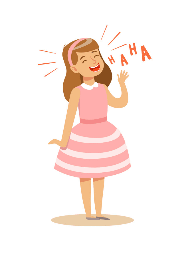 Girl Laughing clipart images