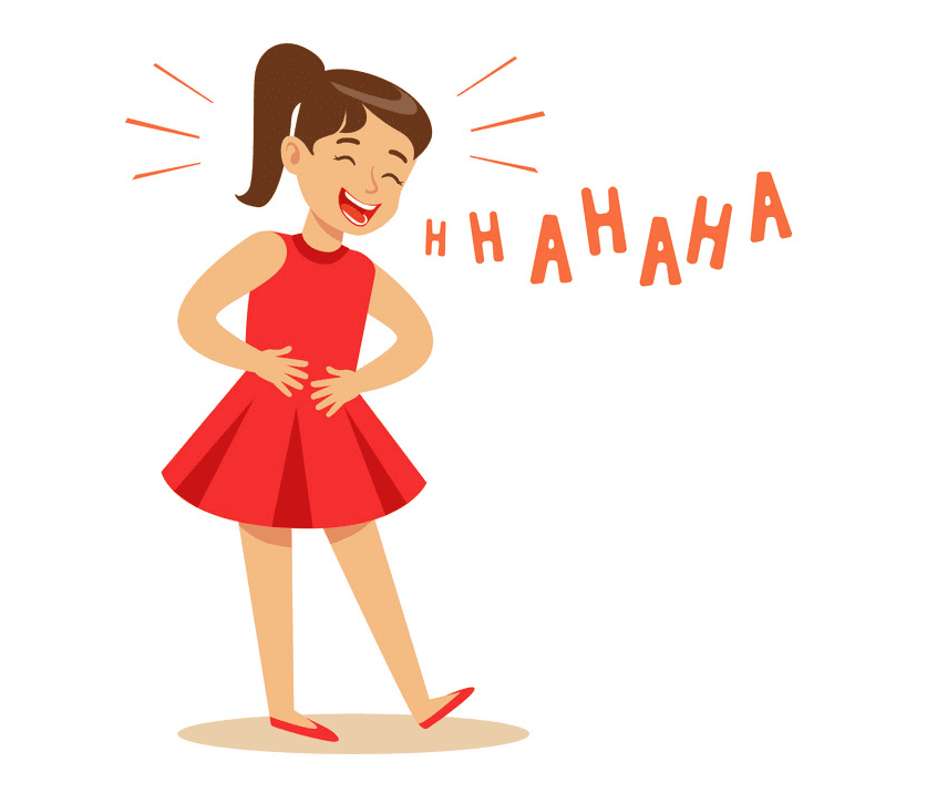 Girl Laughing clipart png images