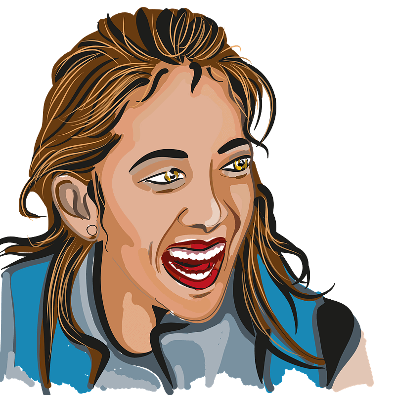 Girl Laughing clipart transparent 1