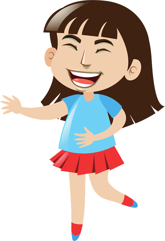 Girl Laughing clipart transparent
