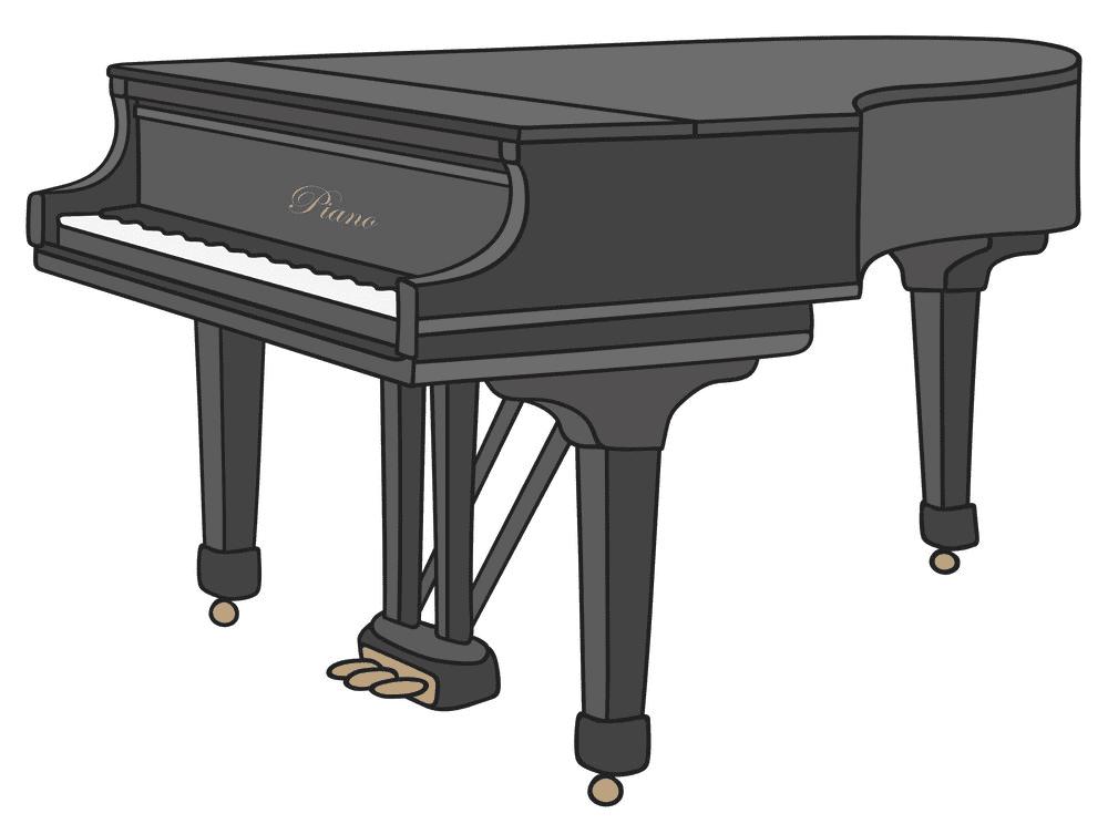 Grand Piano clipart 2