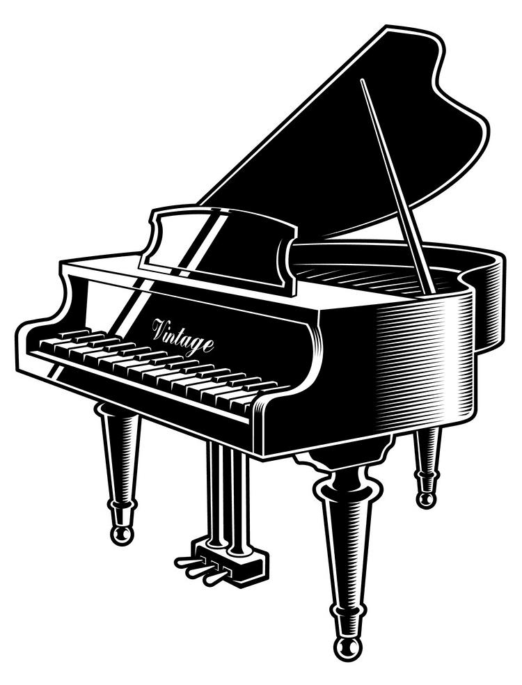 Grand Piano clipart 6