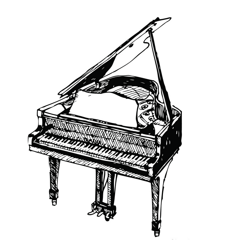 Grand Piano clipart free images