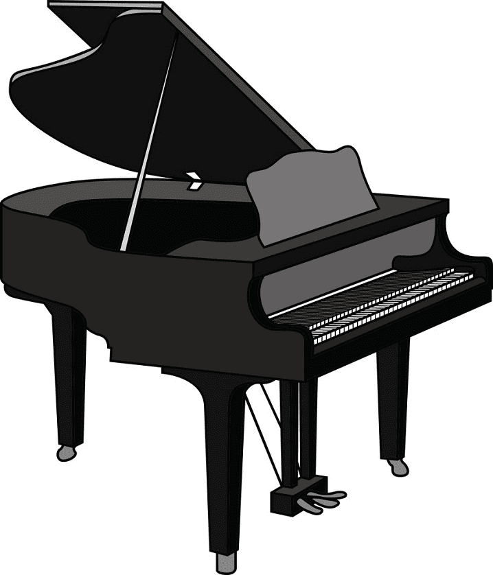 Grand Piano clipart png free