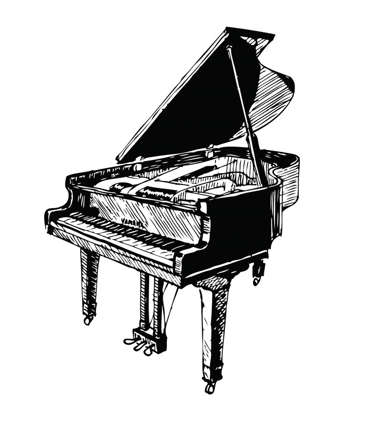Grand Piano clipart png image