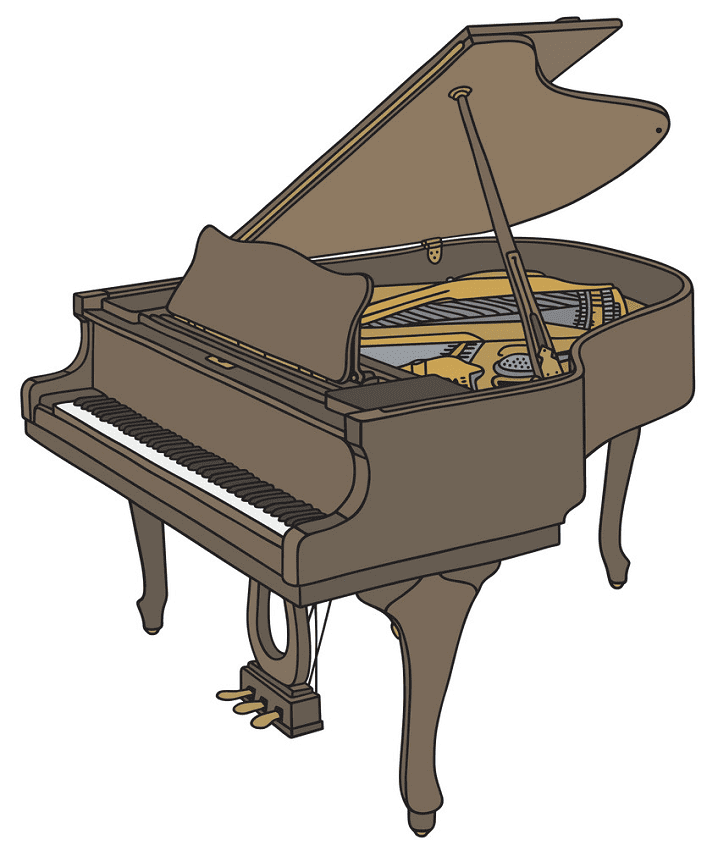 Grand Piano clipart png