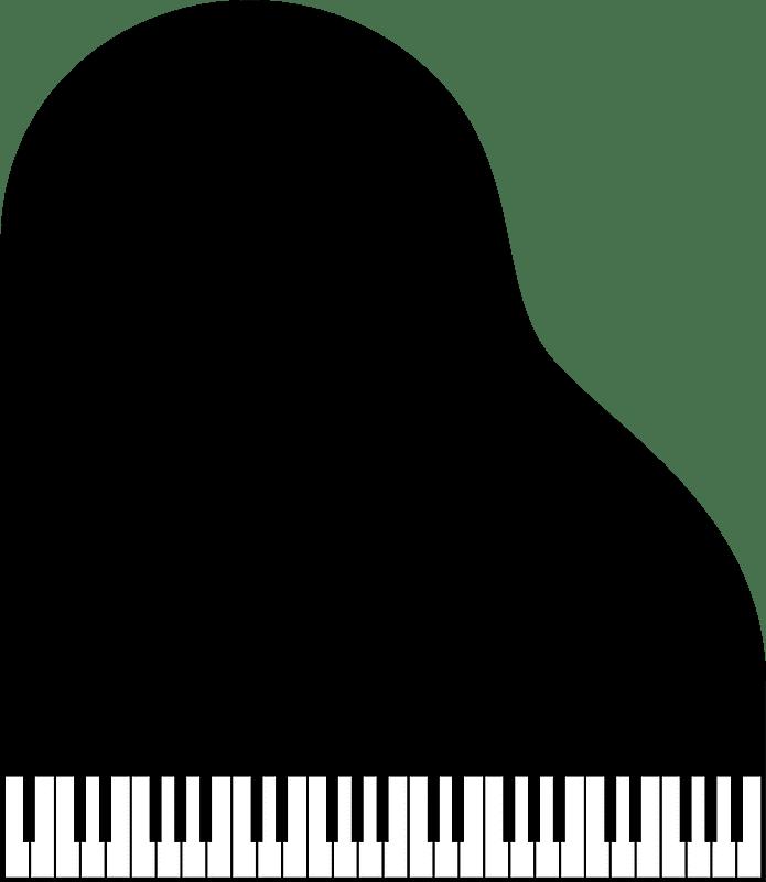 Grand Piano clipart transparent 1