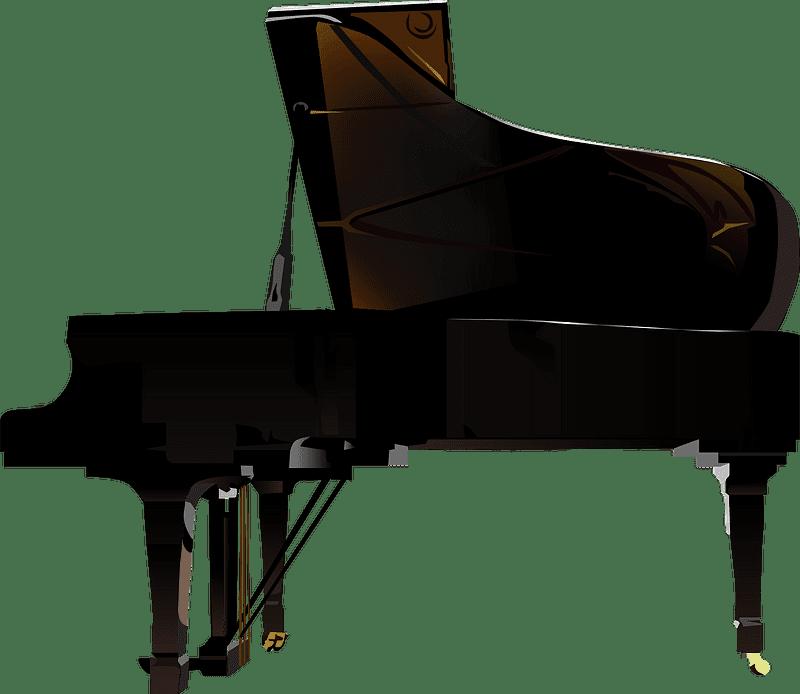 Grand Piano clipart transparent