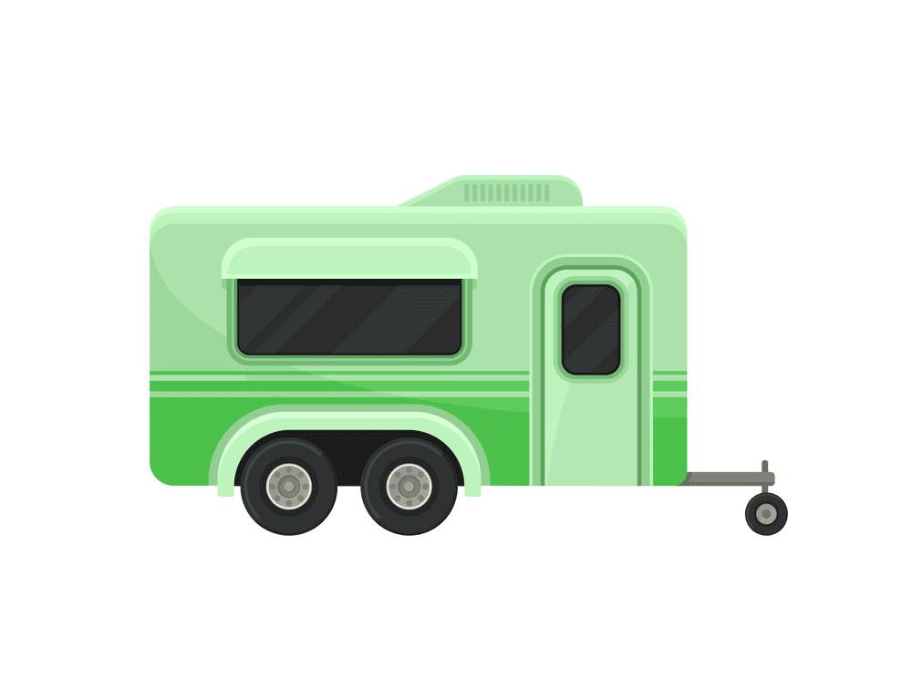 Green Camper Trailer clipart
