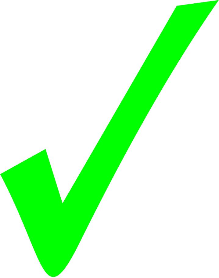 Green Check Mark clipart 2