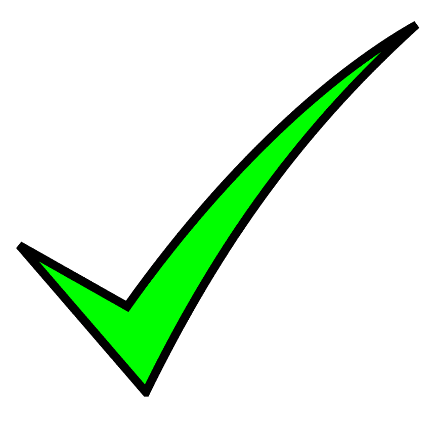 Green Check Mark clipart 3