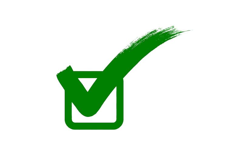 Green Check Mark clipart 4