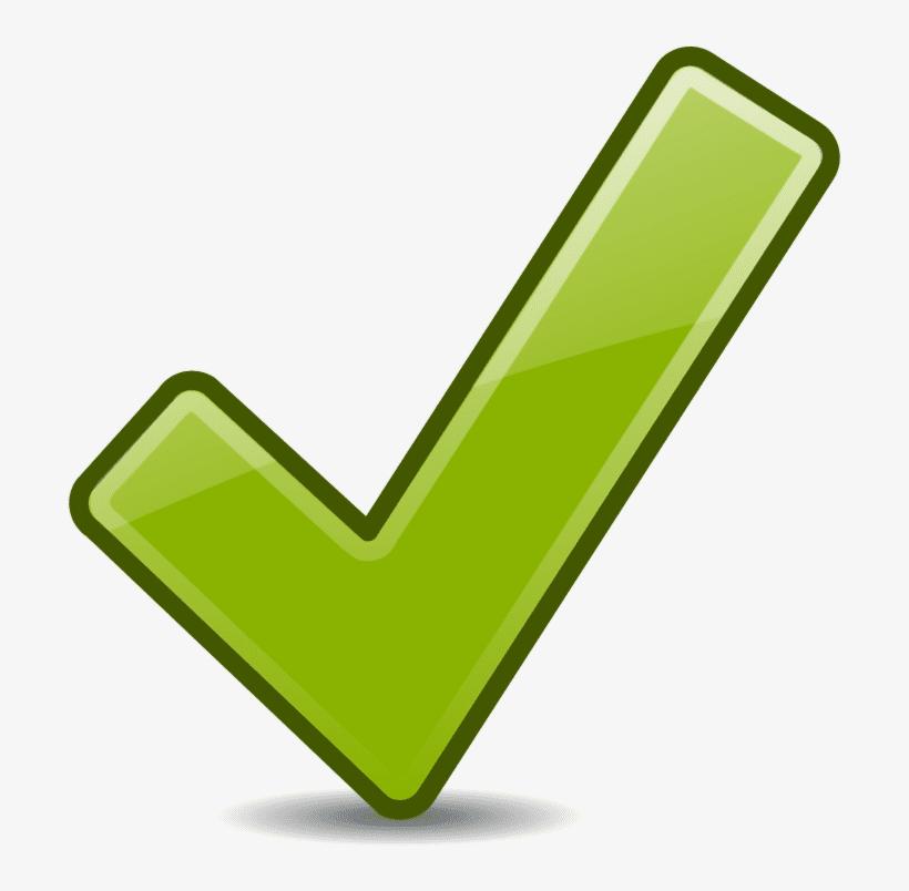 Green Check Mark clipart 5