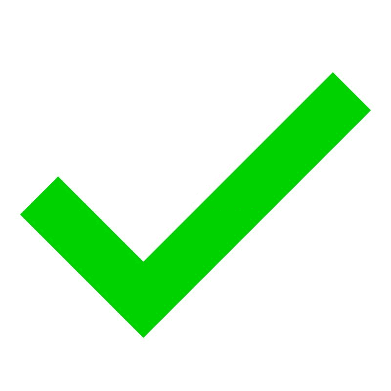 Green Check Mark clipart free images