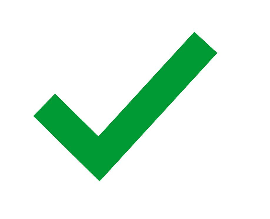 Green Check Mark clipart free