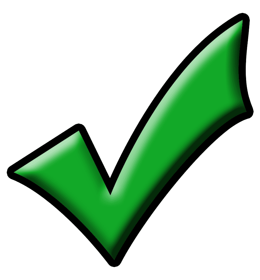 Green Check Mark clipart png free