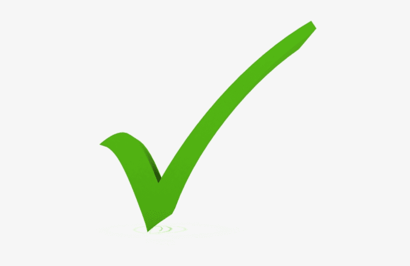 Green Check Mark clipart png image