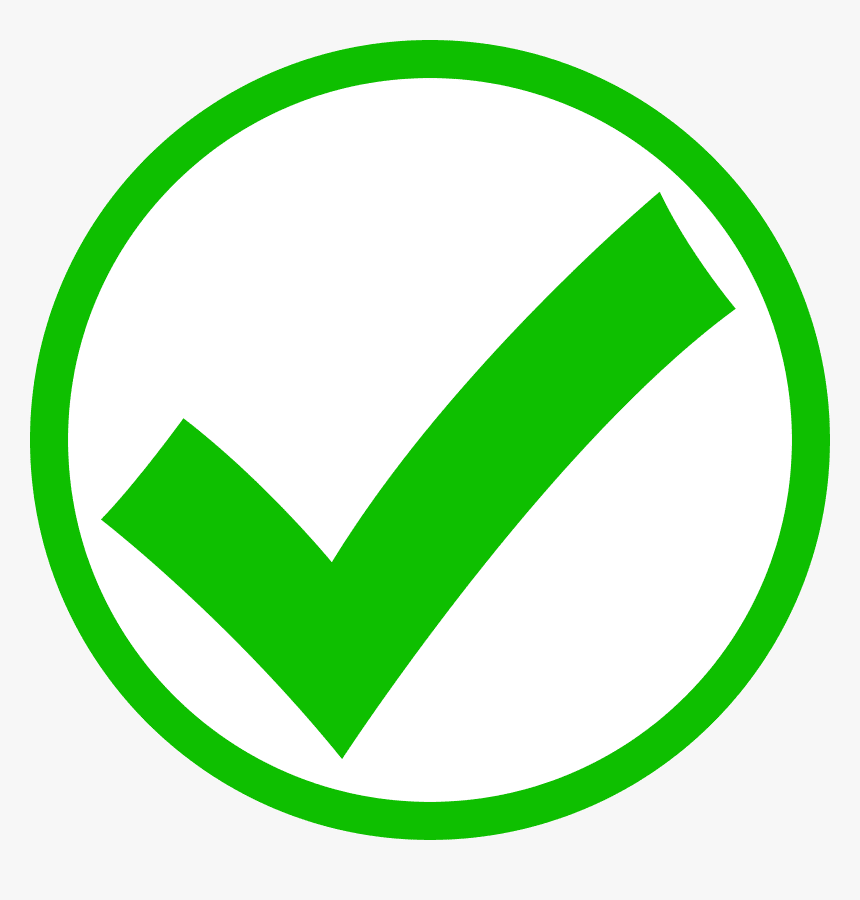 Green Check Mark clipart png images