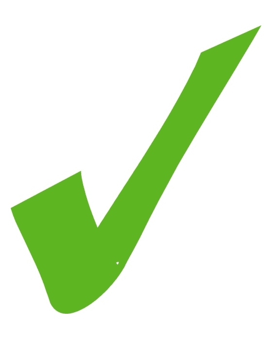 Green Check Mark clipart png