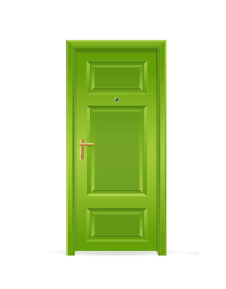 Green Door clipart