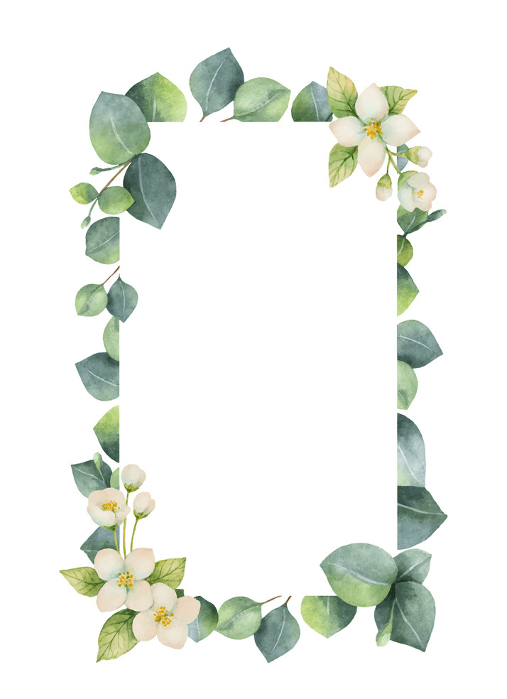 Greenery Border clipart png free