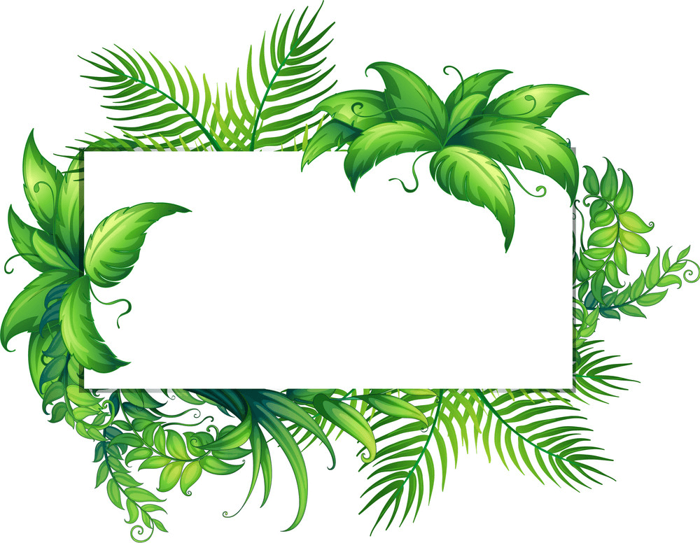 Greenery Border clipart png image