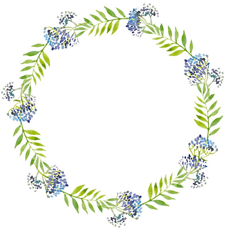 Greenery Wreath clipart 2