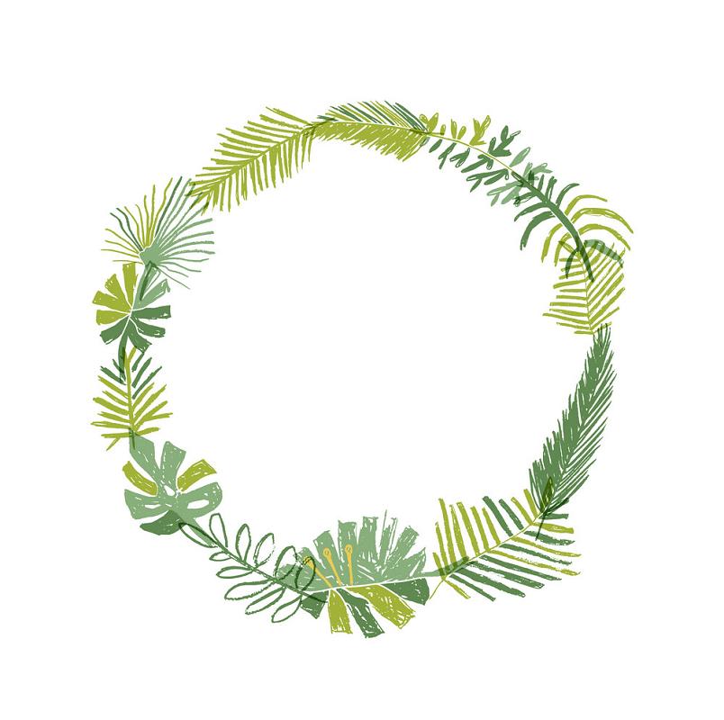 Greenery Wreath clipart 3