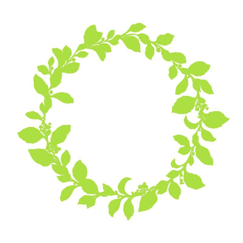 Greenery Wreath clipart 5