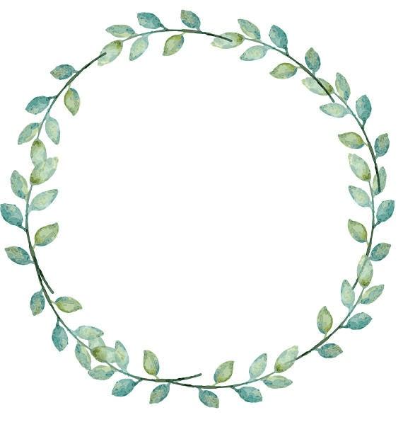 Greenery Wreath clipart 6