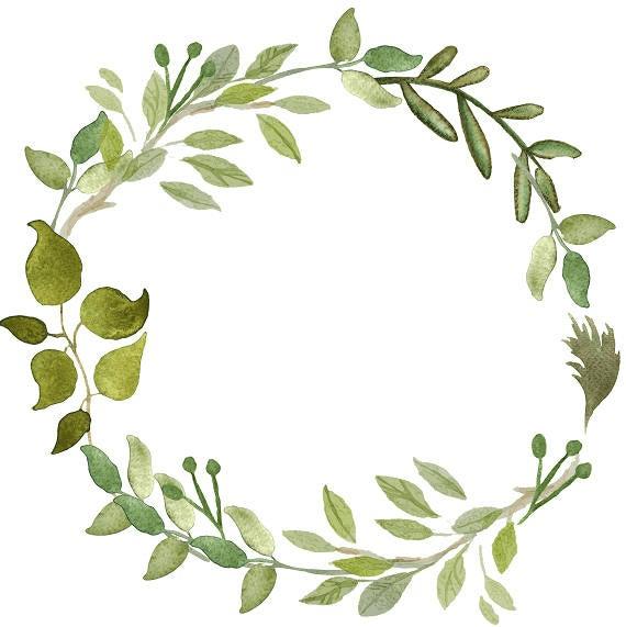 Greenery Wreath clipart 7