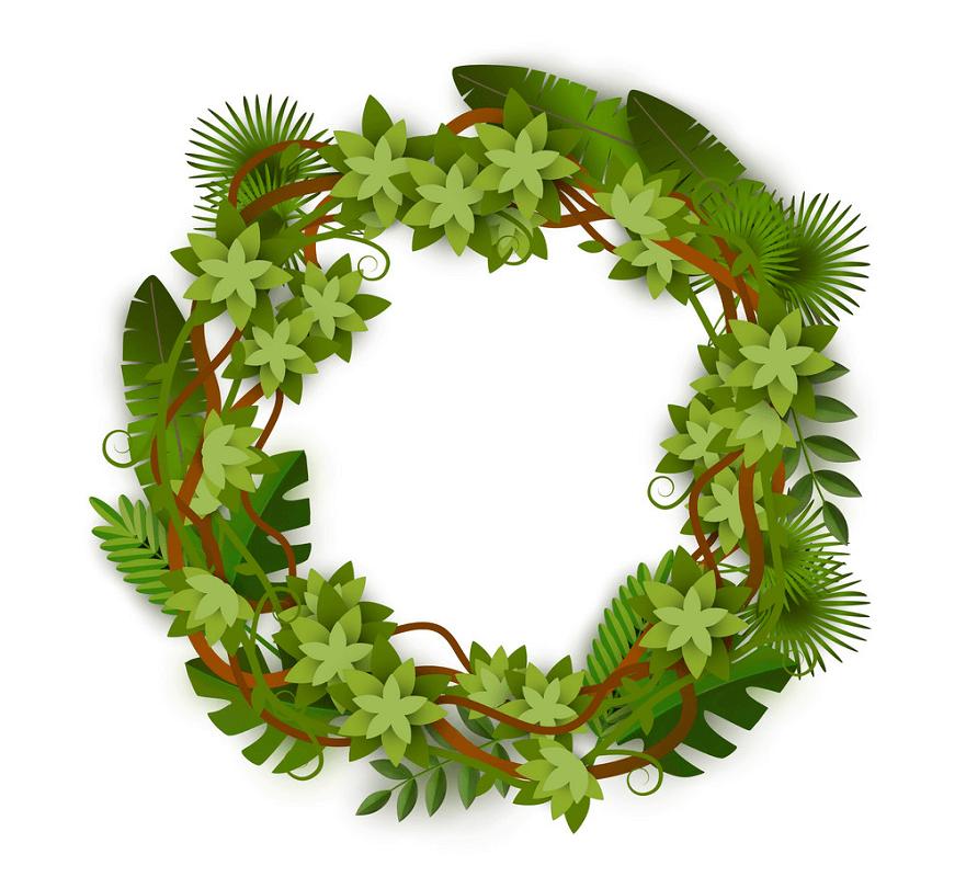 Greenery Wreath clipart free image
