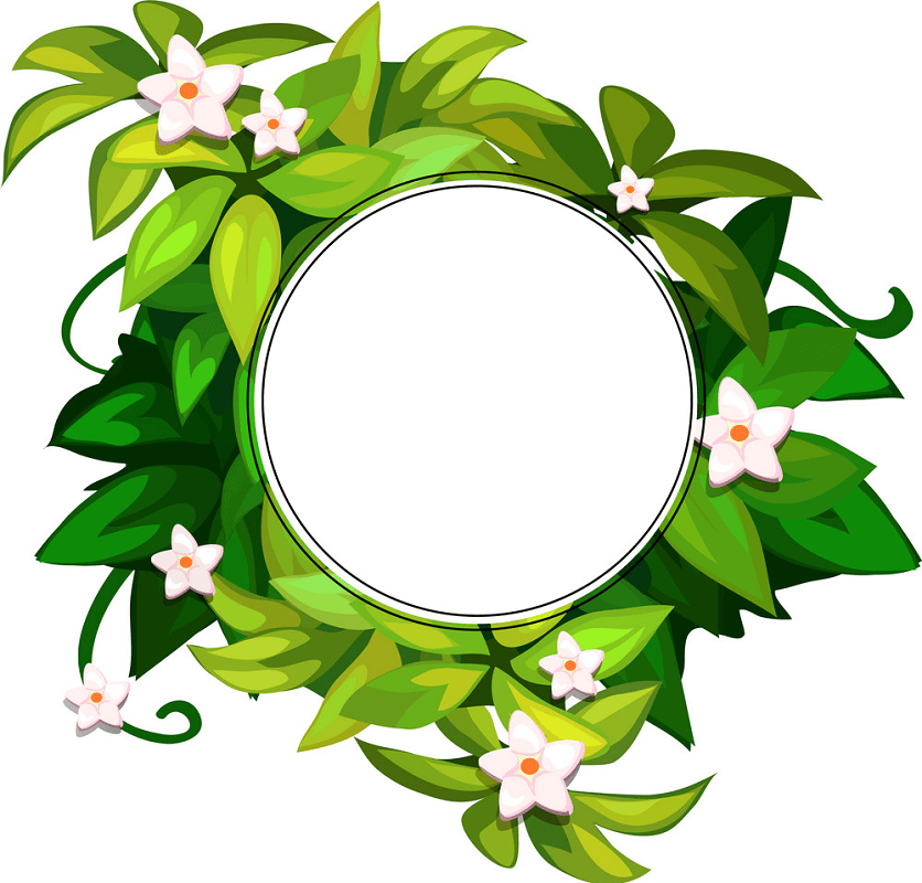 Greenery Wreath clipart free images