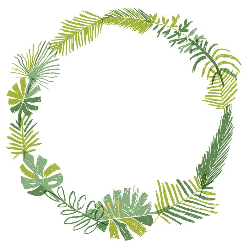 Greenery Wreath clipart free