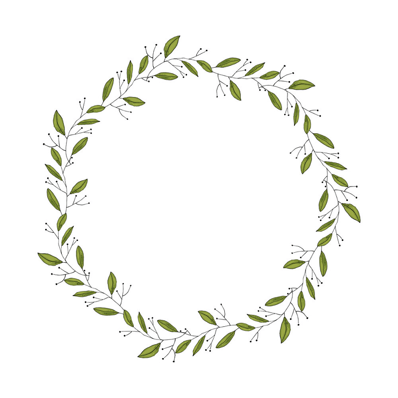 Greenery Wreath clipart images