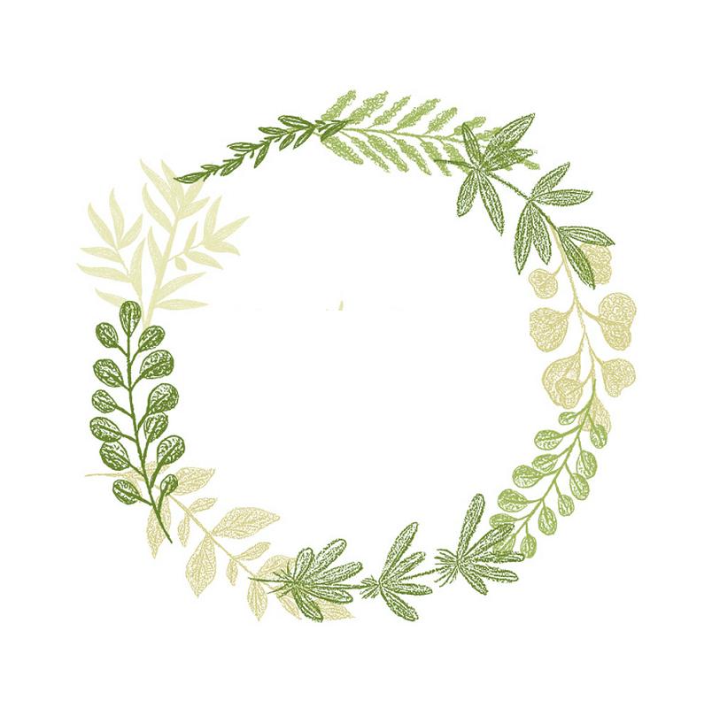 Greenery Wreath clipart