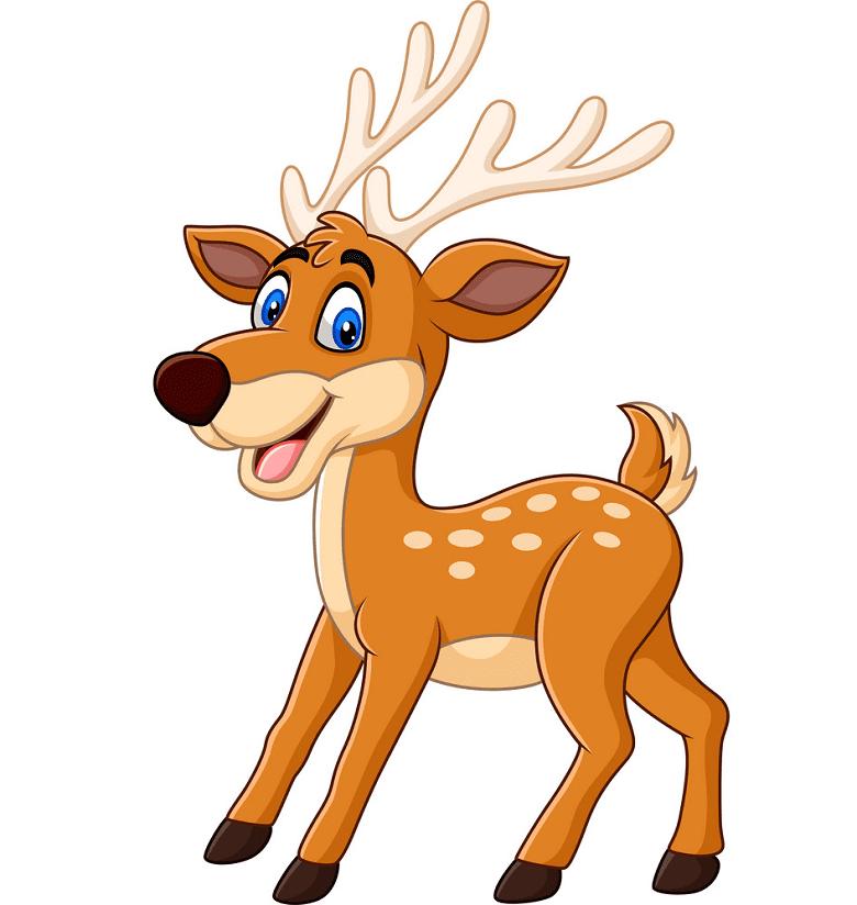 Happy Deer clipart