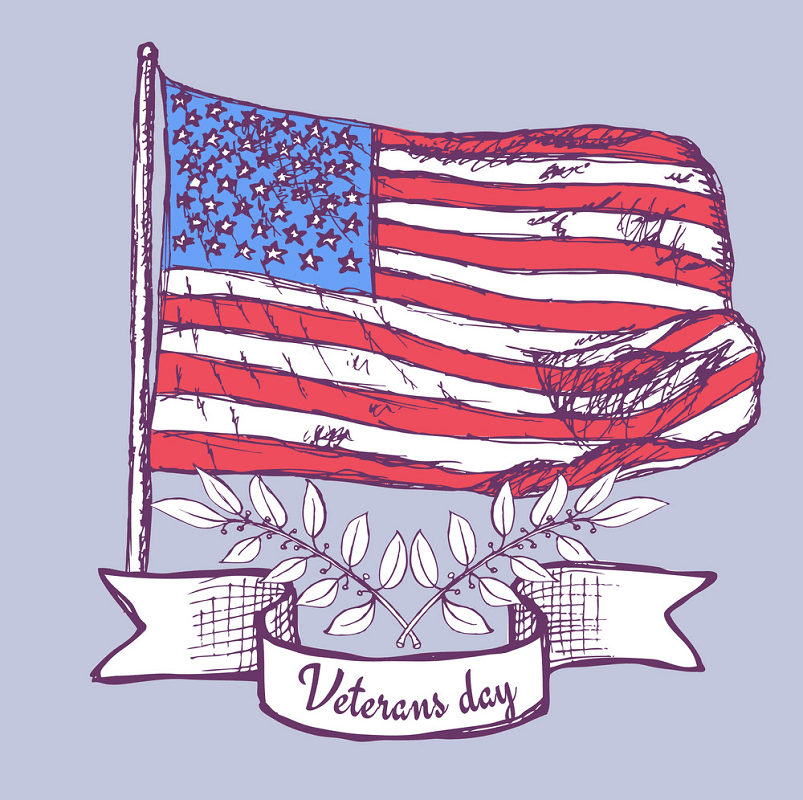 Happy Veterans Day clipart free image