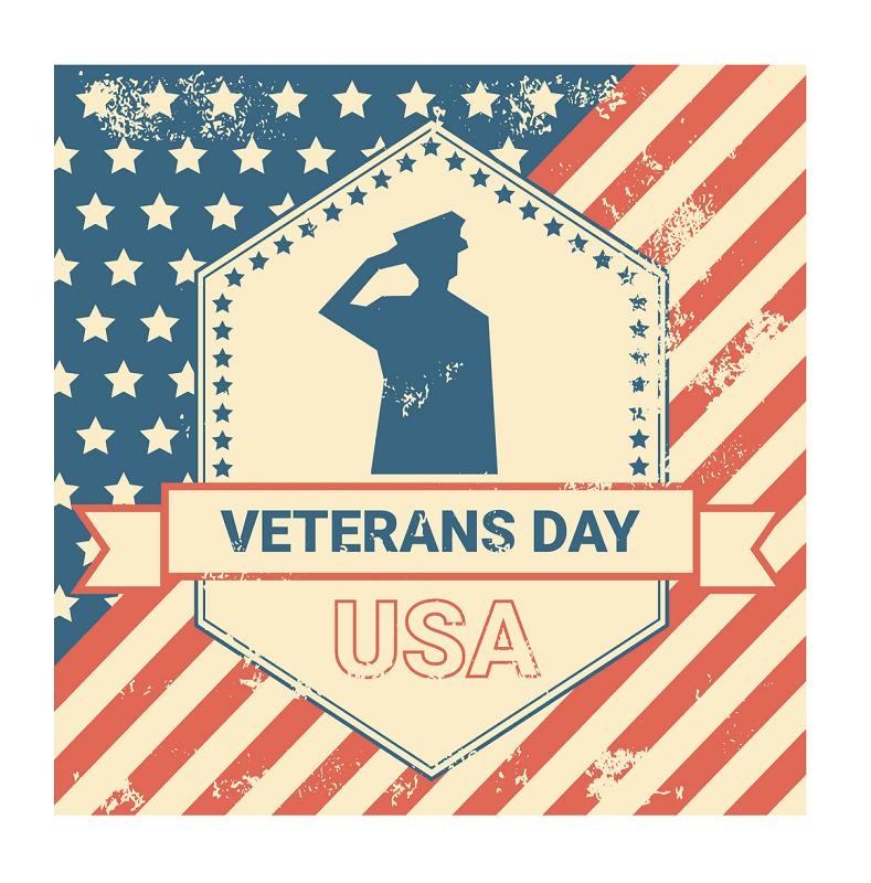 Happy Veterans Day clipart