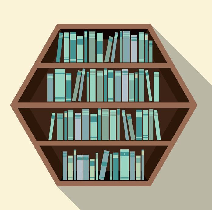 Hexagon Bookshelf clipart